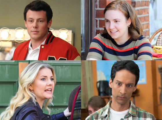 Cory Monteith, Glee Elisha Cuthbert, Happy Endings Danny Pudi, Community Lena Dunham, Girls